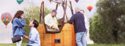 hot air balloon surprise proposal
