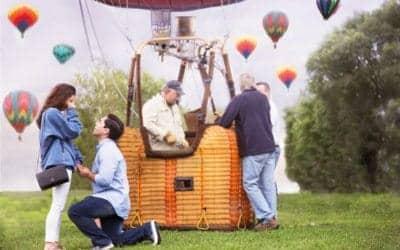 Hot Air Balloon Surprise Proposal Caught on Camera – Great Falls Balloon Festival