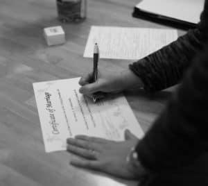 Stress Free Wedding Planning, marriage license