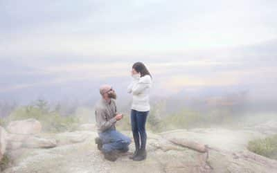 Cadillac Mountain Surprise Proposal | Bar Harbor Wedding