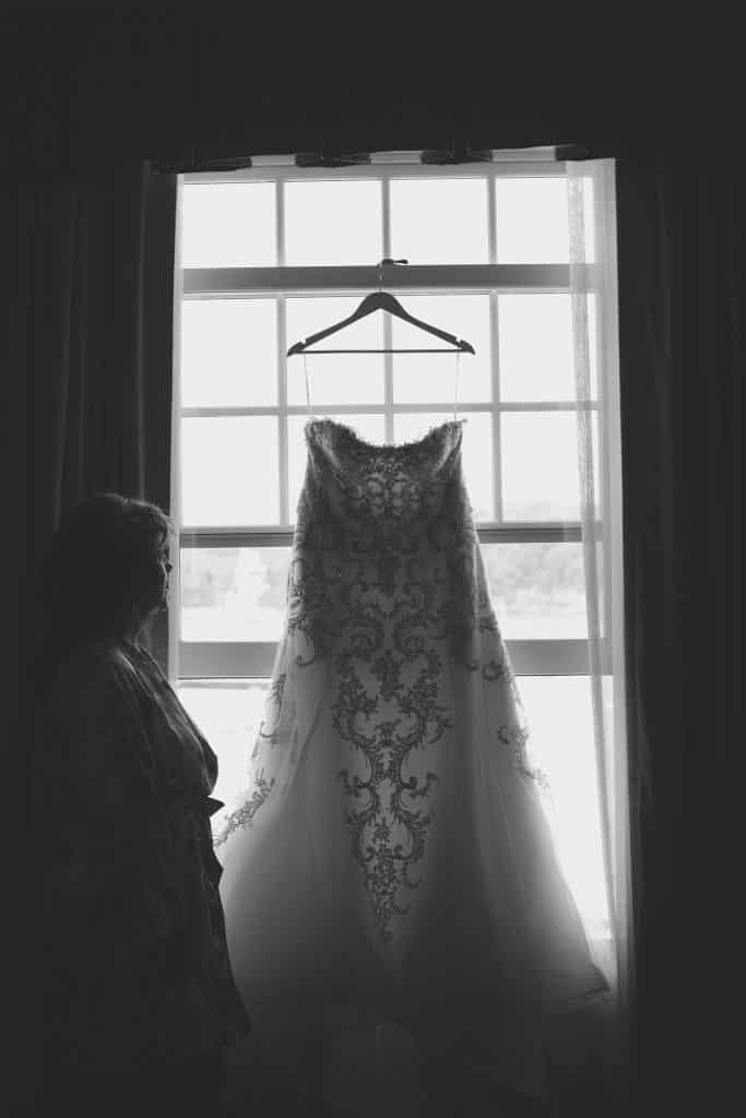 Maine wedding Dress at Lake Parlin Lodge