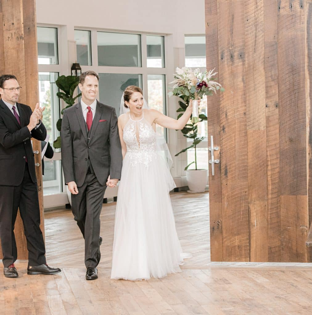Bride and grooms entrance at the cliff house