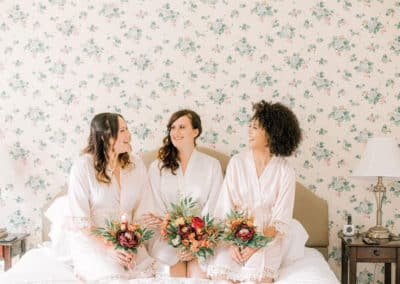 bridesmaids before a maine wedding