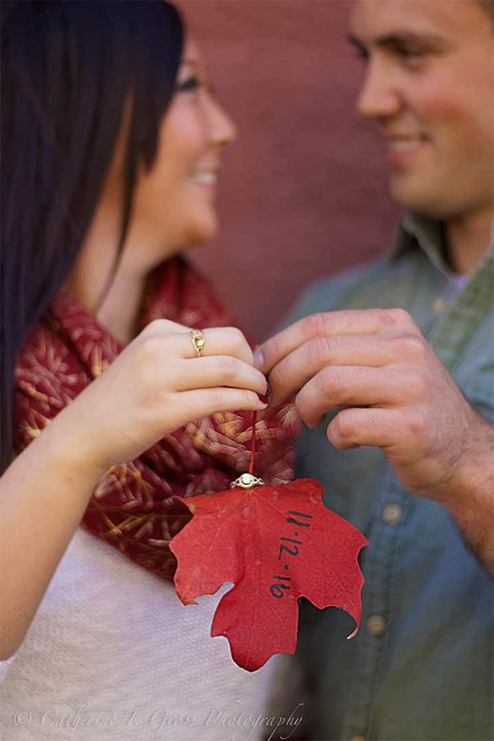 engaged maine couple