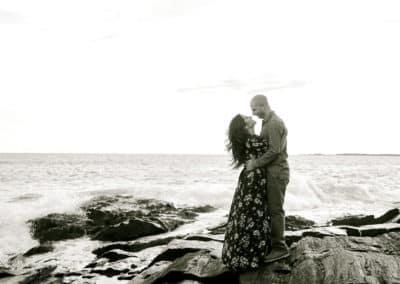 engagement photos on maine coast