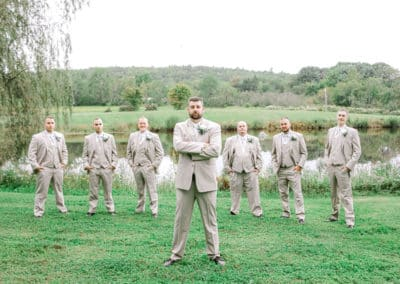 groomsmen portrait at maine wedding