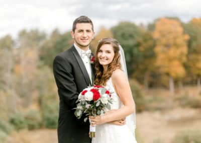maine bride and groom portrait