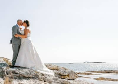 wedding portraits on maine coast